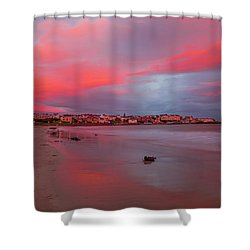 Shower Curtain featuring the photograph Autumn Sunrise by Roy McPeak