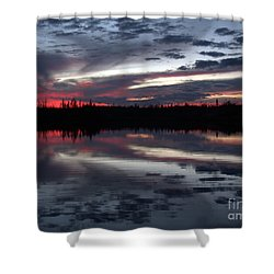 Autumn Sunset Shower Curtain by A K Dayton