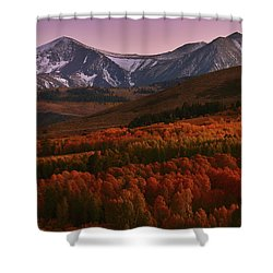 Autumn Sunset At Conway Summit In The Eastern Sierras Shower Curtain