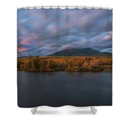 Autumn Sunset At Mount Katahdin Shower Curtain