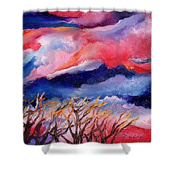 Autumn Sunset In The Sky Shower Curtain