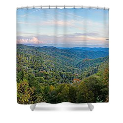 Autumn Sunset In The Smokey Mountains Shower Curtain
