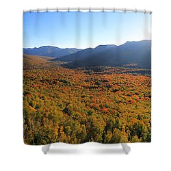 Autumn Sunset Over The Pemi Shower Curtain