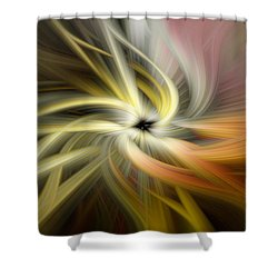 Autumn Swirls Shower Curtain