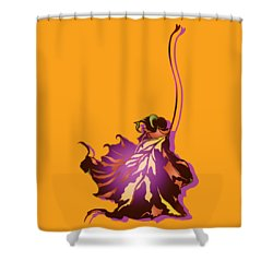 Shower Curtain featuring the digital art Autumn Sycamore Leaf by MM Anderson