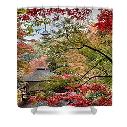 Shower Curtain featuring the photograph Autumn  by Tad Kanazaki