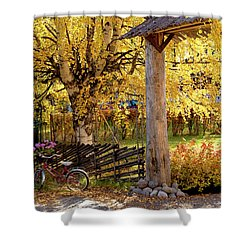 Rural Rustic Autumn Shower Curtain by Tamara Sushko
