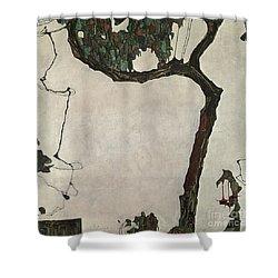 Autumn Tree Shower Curtain by Egon Schiele