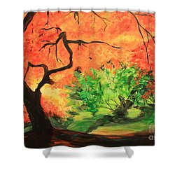 Autumn Tree Shower Curtain by Nancy Czejkowski