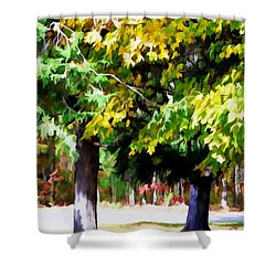 Autumn Trees 7 Shower Curtain by Lanjee Chee