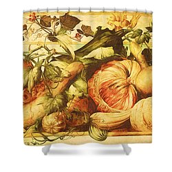 Autumn Vegetable Harvest  Shower Curtain