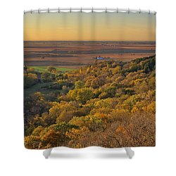 Autumn View At Waubonsie State Park Shower Curtain by Edward Peterson