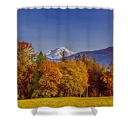 Autumn View Of Mt. Baker Shower Curtain