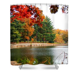 Shower Curtain featuring the photograph Autumn View by Teresa Schomig