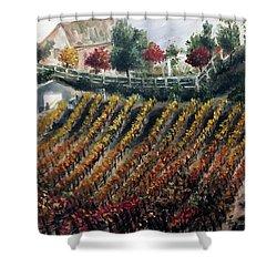 Autumn Vines Shower Curtain by Roxy Rich