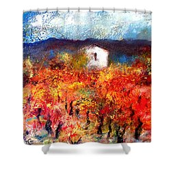 Autumn Vineyard Shower Curtain