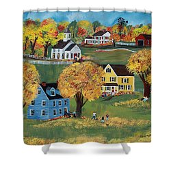 Autumn Shower Curtain by Virginia Coyle