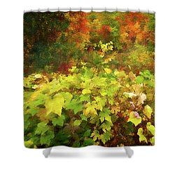 Autumn Watercolor Shower Curtain