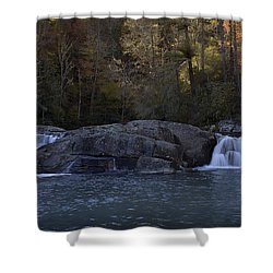 Shower Curtain featuring the photograph Autumn Waterfall  by Ellen Heaverlo
