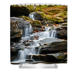 Autumn Waterfall Shower Curtain by Shelby  Young
