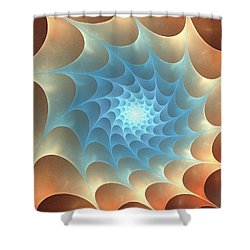 Shower Curtain featuring the digital art Autumn Web by Anastasiya Malakhova