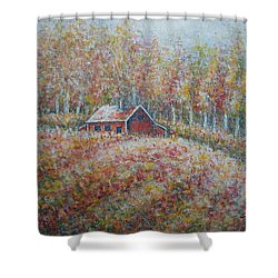 Shower Curtain featuring the painting Autumn Whisper. by Natalie Holland