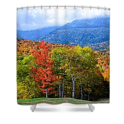 Autumn White Mountains Nh Shower Curtain
