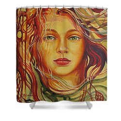 Autumn Wind 2 Shower Curtain