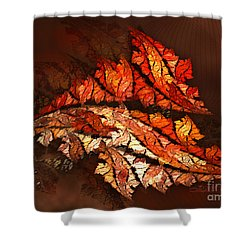 Autumn Wind Shower Curtain by Jutta Maria Pusl