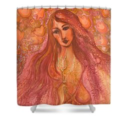 Autumn With Gold Flower Shower Curtain