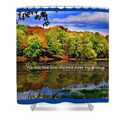 Shower Curtain featuring the photograph Autumn Wonders Giving by Diane E Berry