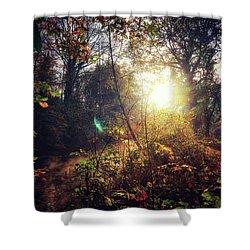 Autumn Woodland Shower Curtain