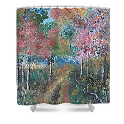 Autumn Woodland Shower Curtain by Judy Via-Wolff