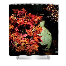 Thanksgiving Wreath Shower Curtain