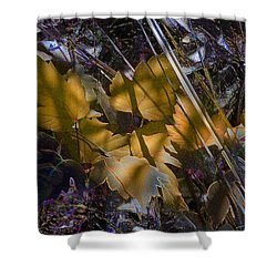 Shower Curtain featuring the digital art Autumn Yellow by Stuart Turnbull