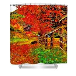 Autumnal Blaze Of Glory Shower Curtain
