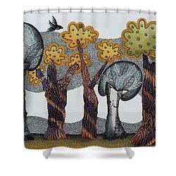 Autumnal Grove  Shower Curtain by Graciela Bello