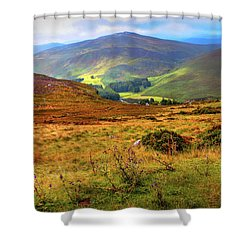 Shower Curtain featuring the photograph Autumnal Hills. Wicklow. Ireland by Jenny Rainbow