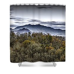 Autumnal Mountains Shower Curtain