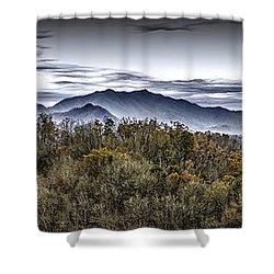 Autumnal Mountains Shower Curtain by Walt Foegelle