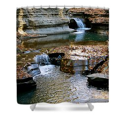 Autumnal Pool Shower Curtain