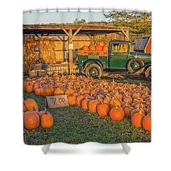 Autumnal Sunrise At Roe's Shower Curtain