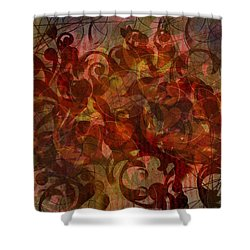 Autumnal Waning Shower Curtain