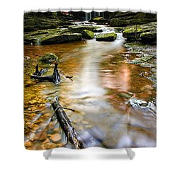 Autumnal Waterfall Shower Curtain