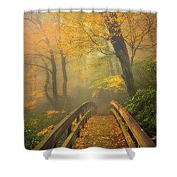 Autumn's Bridge To Heaven Shower Curtain