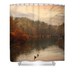 Autumn's Ebb Shower Curtain by Jessica Jenney