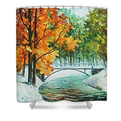 Autumn's End Shower Curtain by Leonid Afremov