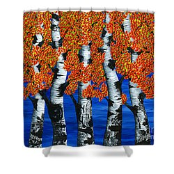 Autumns Farewell Party Shower Curtain