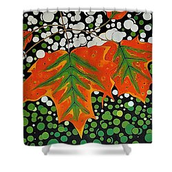Shower Curtain featuring the painting Autumns Kiss by Kathleen Sartoris