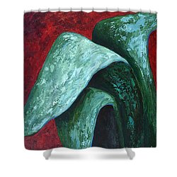 Shower Curtain featuring the painting Av Leaves by Phyllis Howard